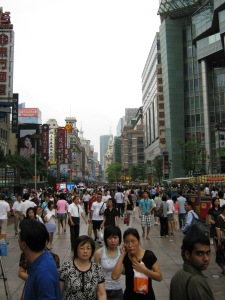 nanjing road by day
