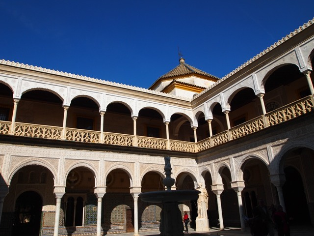 The Moorish influence in the courtyards