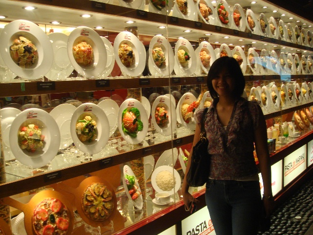 That's me with a whole display of fake dishes in our Jakarta food trip, which I talked about in an earlier post