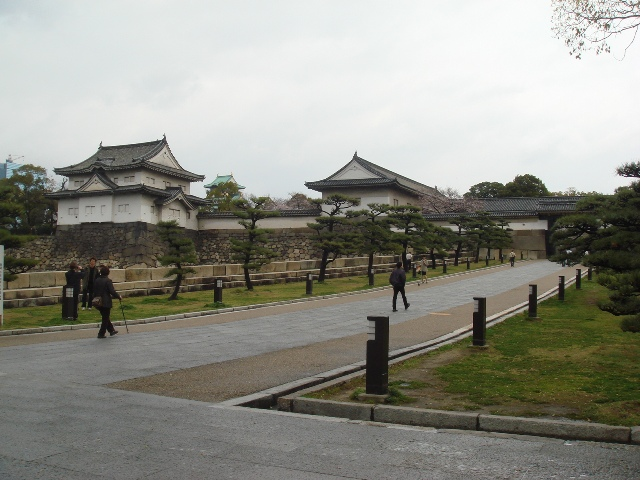 On our way to Otemon Gate, built during the early Edo period in 1628