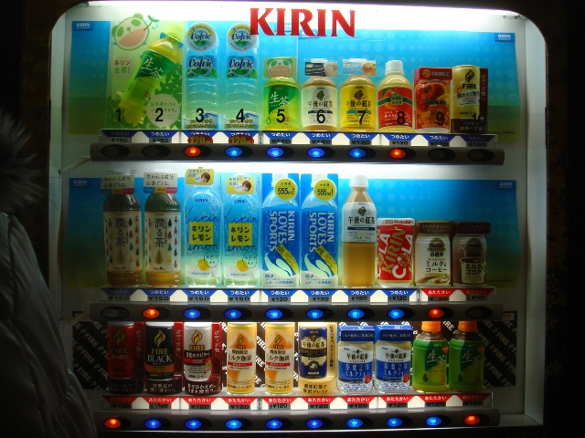 I am amazed at the variety of things you can get from vending machines in Japan. This is a vending machine within the castle grounds--I practically inhaled Kirin's Royal Milk Tea throughout this trip. Absolute YUM milk tea goodness.