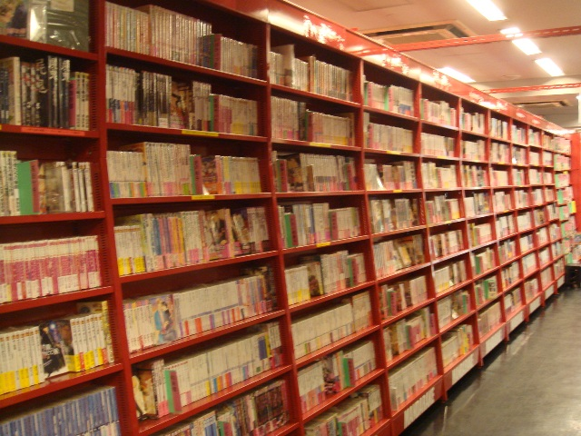 Inside Mandarake, rows and rows of all the manga ever written (or so it seems)