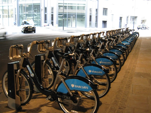 the Barclays bikes: another idea I hope we could replicate back home.