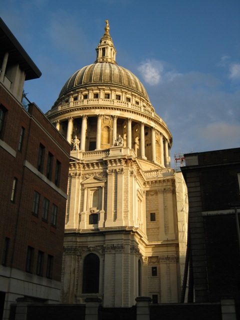 a glimpse of St. Paul's Cathedral, near the office