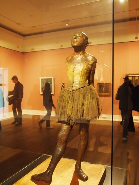 a Degas bronze ballerina
