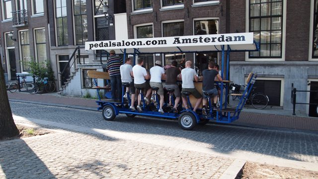 Yes, they drink and drive in Amsterdam