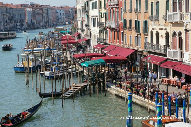 view from the Rialto, across our stop