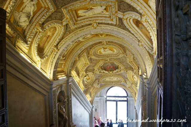 The Golden Staircase, decorated with 24-carat gold. The second of two places you're allowed to take photos