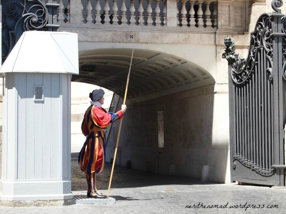 the famous Pontifical Swiss Guard uniform