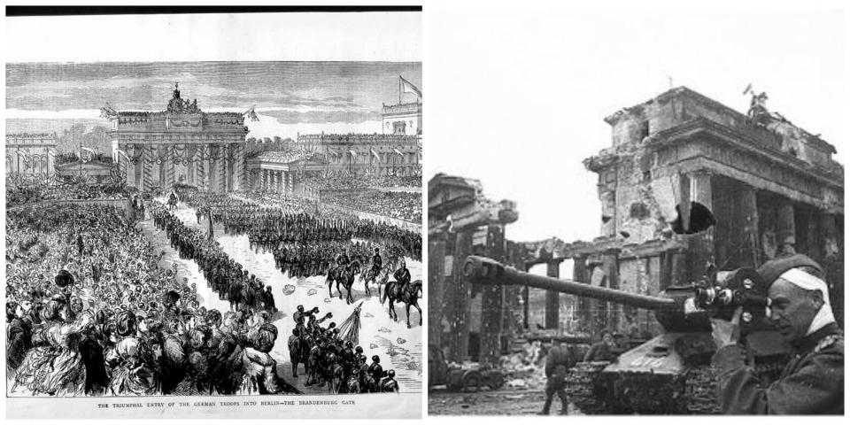 Brandenburg Gate old