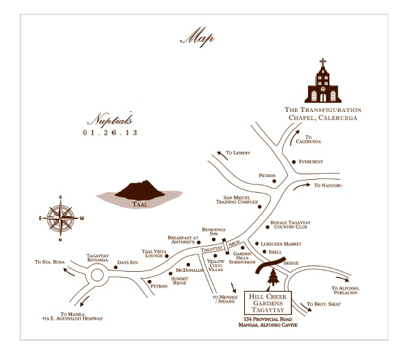 Caleruega - Hill Creek map